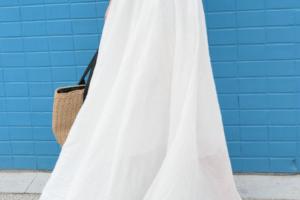 30代女性向け白・ホワイトのマキシ丈スカートに関する参考画像