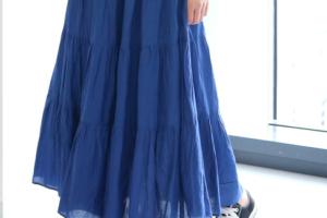 青・ブルーの30代女性向けマキシ丈スカートに関する参考画像