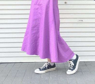 紫・パープルの30代女性向けマキシ丈スカートに関する参考画像