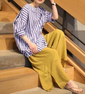 ビーチサンダルの30代女性向けコーディネートに関する参考画像