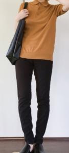 ポロシャツニットのコーデに関する参考画像