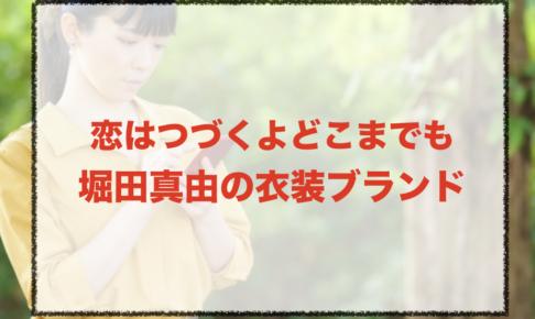 恋はつづくよどこまでもの堀田真由衣装ブランドに関する参考画像