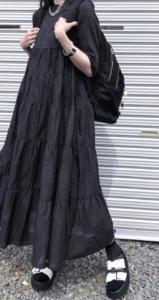 マキシ丈ワンピースの春コーデに関する参考画像
