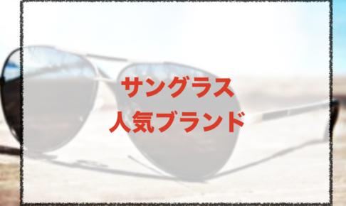 サングラスの人気ブランドに関する参考画像