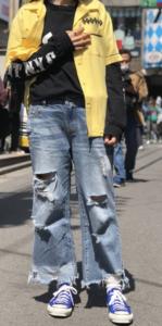 ボーリングシャツの春コーデに関する参考画像