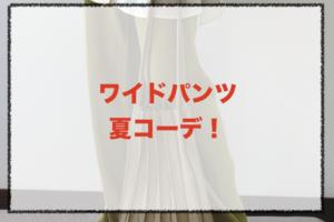 ワイドパンツの夏向けコーデに関する参考画像