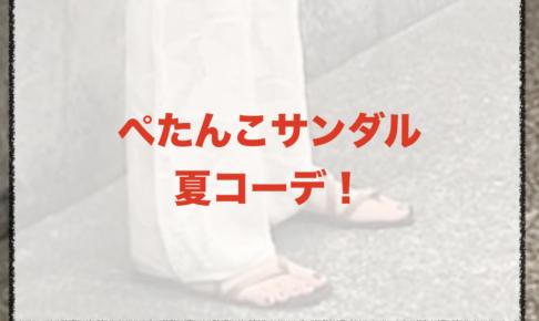 ぺたんこサンダルの夏向けコーデに関する参考画像