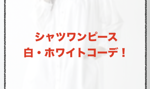 白・ホワイトのシャツワンピースコーデに関する参考画像