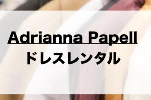 アドリアナパペルのドレスレンタルに関する参考画像