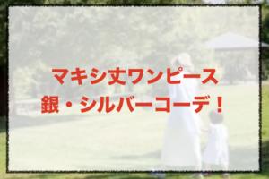 銀・シルバーのマキシ丈ワンピースコーデに関する参考画像