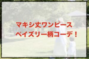 ペイズリー柄のマキシ丈ワンピースコーデに関する参考画像