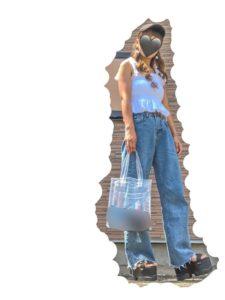 2020夏向けスニーカーサンダルの白・ホワイトコーデに関する参考画像