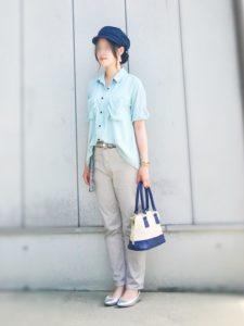 【2020年夏】レディース半袖ワークシャツの人気色別コーデの参考画像