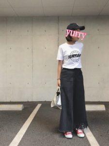 【2020年夏】レディースキャンバスシューズの人気色別コーデの参考画像