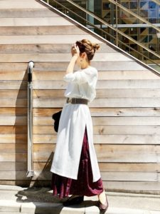 【2020年夏】マキシ丈ワンピースの人気色別コーデの参考画像
