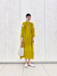 【2020年夏】リネンワンピースの人気色別コーデの参考画像