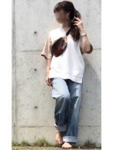 【2020年夏】ウエストバッグの人気色別コーデの参考画像