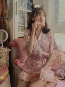 【2020年夏】レディースパジャマの人気色別コーデの参考画像