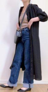 ロングシャツの春コーデに関する参考画像