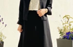 ワンピーススーツのコーデに関する参考画像
