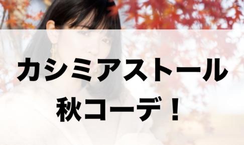 カシミヤストールの秋向けコーデに関する参考画像