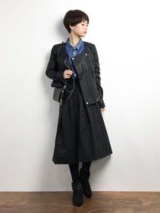【2020年冬】レザージャケットの30代レディース向け流行コーデ