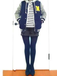 【2020年秋】スタジャンの30代レディース向け色別流行コーデの参考画像