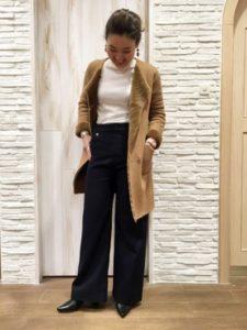 【2020年冬】ムートンコートの30代レディース向け色別流行コーデの参考画像