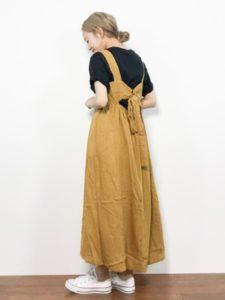 【2020年秋】ジャンパースカートの30代レディース向け色別流行コーデの参考画像