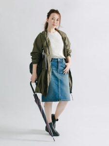 【2020年秋】レインコート30代レディース向け色別流行コーデの参考画像
