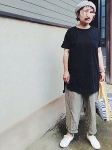 【2020年夏】Tシャツワンピースの30代レディース向け色別流行コーデの参考画像