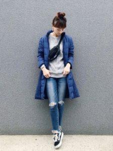 【2020年秋】ライトダウンの30代レディース向け色別流行コーデの参考画像