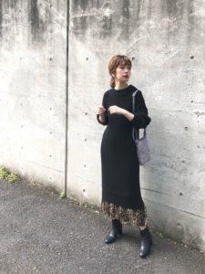 【2020年秋】ニットワンピースの30代レディース向け色別流行コーデの参考画像