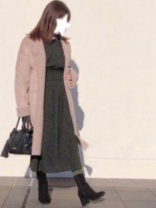 【2020年冬】フェイクムートンコートの30代レディース向け色別流行コーデの参考画像