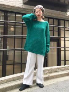 【2020年秋】モヘアニットの30代レディース向け色別流行コーデの参考画像