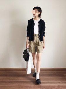 【2020年秋】ショートパンツの30代レディース向け色別流行コーデの参考画像