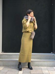 【2020年秋】ニットセットアップの30代レディース向け色別流行コーデの参考画像