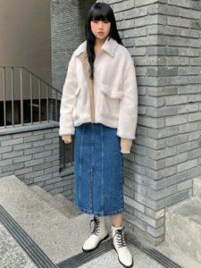 【2020年秋】ワークブーツの30代レディース向け色別流行コーデの参考画像