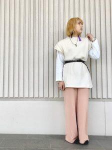 【2020年秋】スウェットパンツの30代レディース向け色別流行コーデの参考画像
