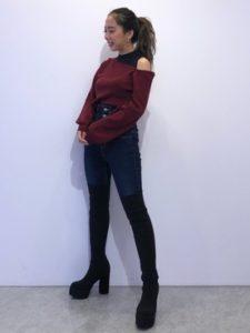 【2020年秋】ニーハイブーツの30代レディース向け色別流行コーデの参考画像