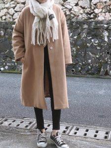 【2020年秋】マフラーの30代レディース向け色別流行コーデの参考画像