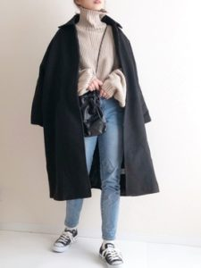 【2020年秋】ステンカラーコートの30代レディース向け色別流行コーデの参考画像