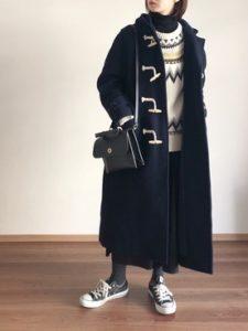 【2020年冬】ダッフルコートの30代レディース向け色別流行コーデの参考画像