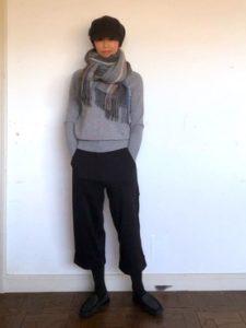 【2020年秋】カシミアストールの30代レディース向け色別流行コーデの参考画像