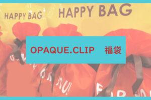OPAQUE.CLIP福袋記事に関する参考画像